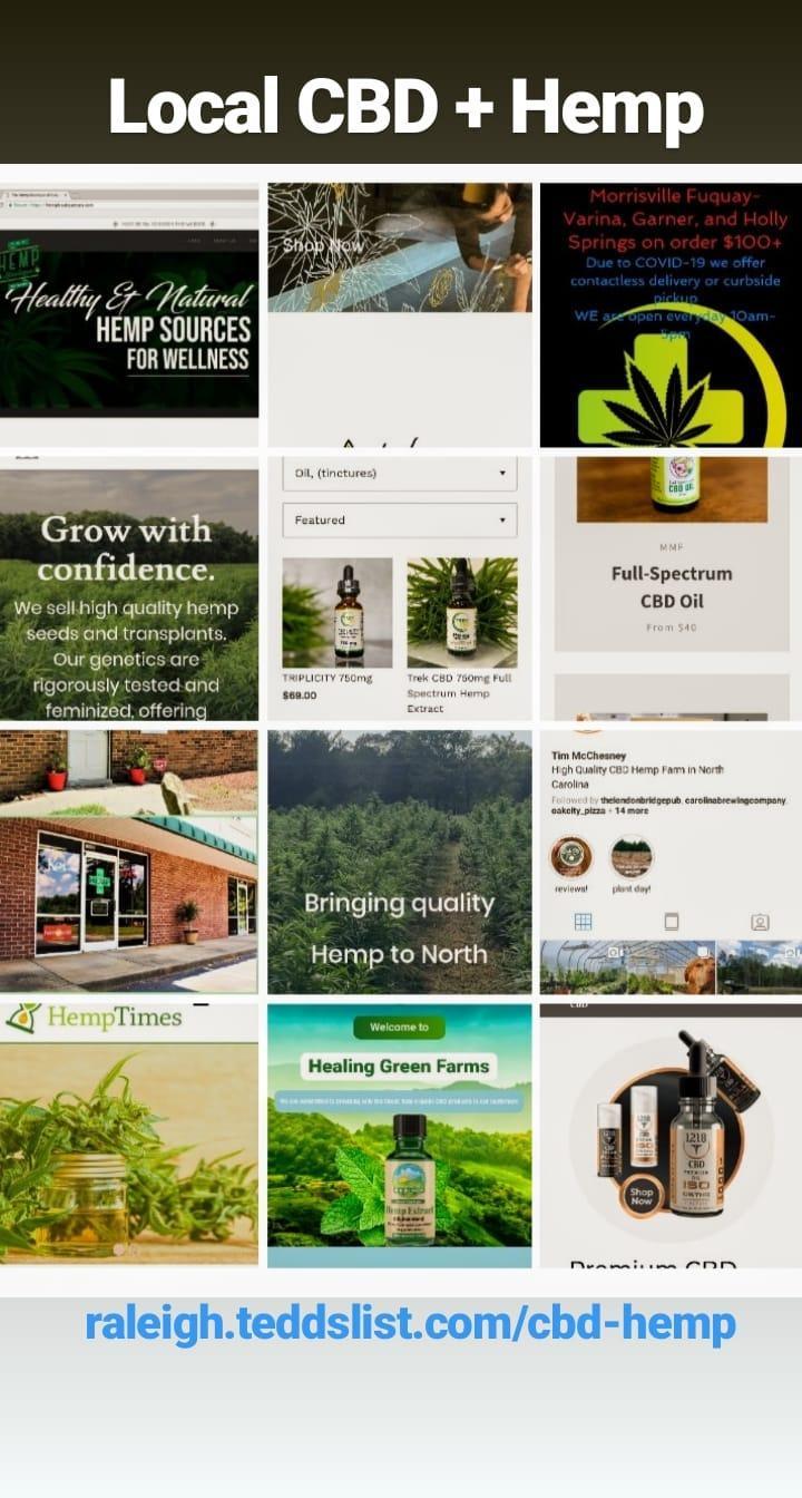 local cbd shops and hemp farms Raleigh NC