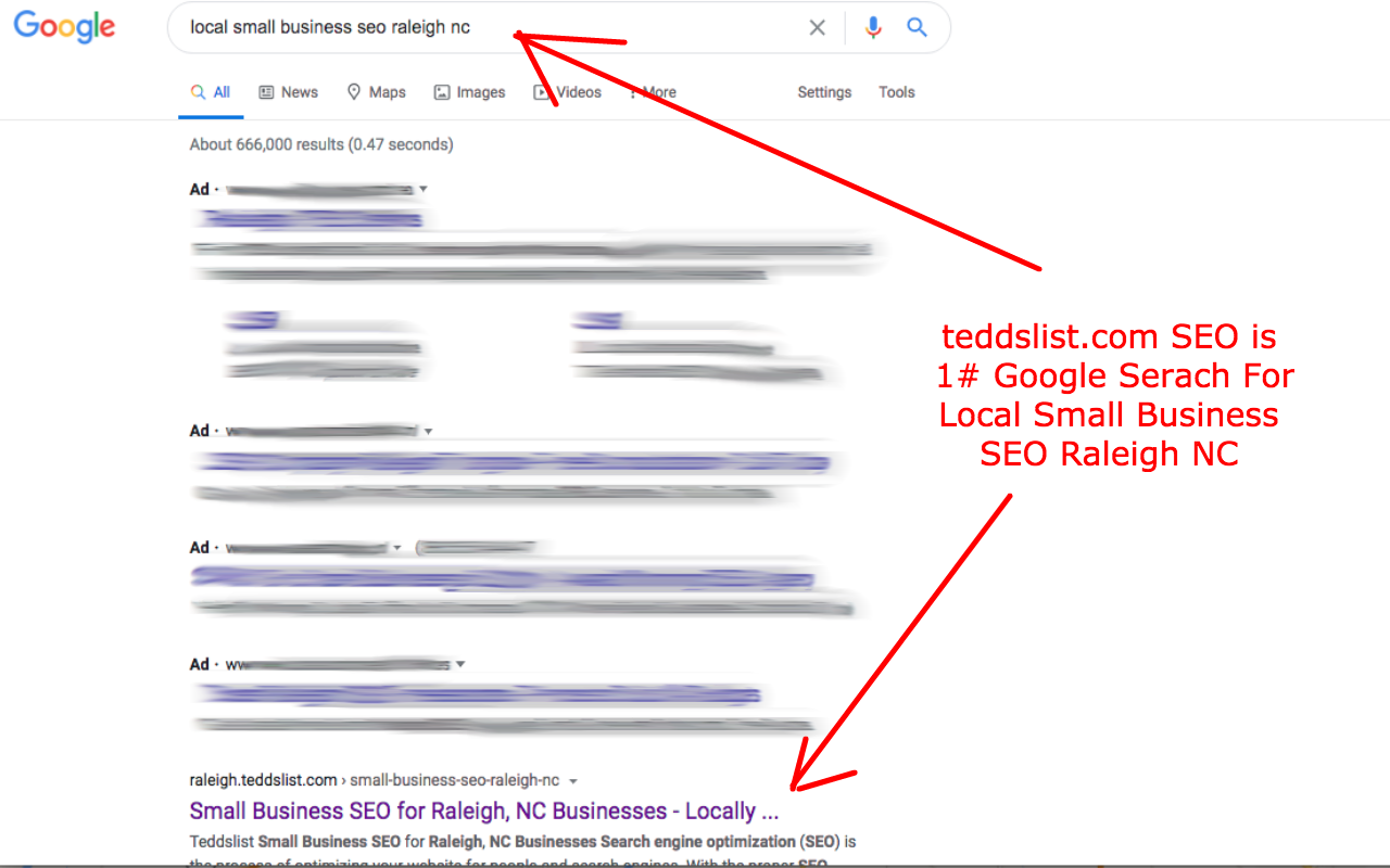 teddslist.com SEO is #1 Rank For Google Search Local Small Business SEO